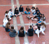 Freshmen in Kate Carey's English class get to know each other  in the Inner Court