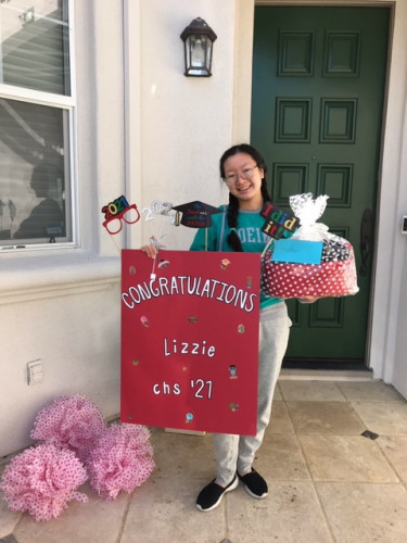 Lizzie '21 gets a CHS Adopt-a-Senior surprise!