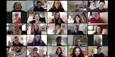 About 35 teachers and staff got together on Zoom at lunch time to catch up, joke, and share whatâ...