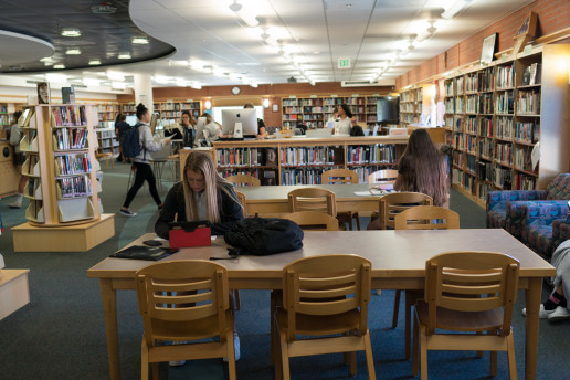 The Carondelet Library is a place to study and get help.